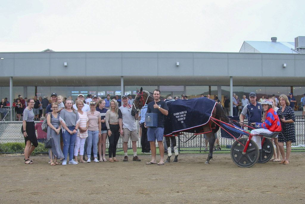 2019 Goulburn Soldiers Club Frank & Edna Day Goulburn Cup presentation to Conviction and Amanda Turnbull by members of the Day family